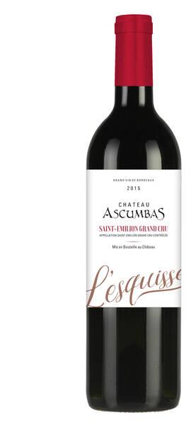 Ascumbas - château  - l'esquisse - Rouge - 2014