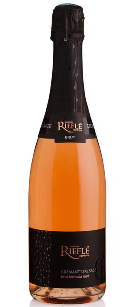 Domaine Riefle-Landmann - rieflé - crémant d'alsace- brut formula rosé sec - Pétillant