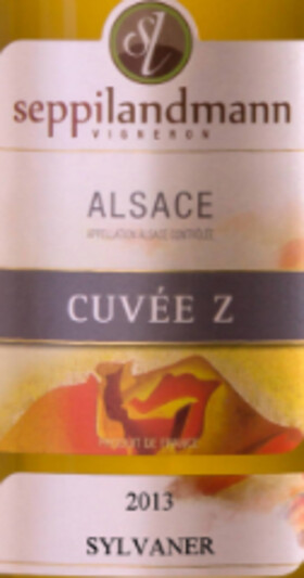 Domaine Riefle-Landmann - seppi landmann - alsace cuvée z sylvaner sec - Blanc - 2013