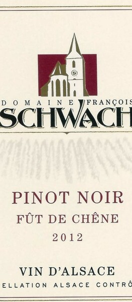 Domaine François Schwach - pinot noir fût de chêne - Rouge - 2012