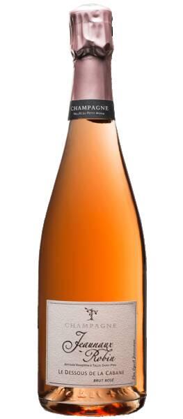 Champagne Jeaunaux-Robin - jeaunaux robin - brut rosé le dessous de la cabane - Pétillant