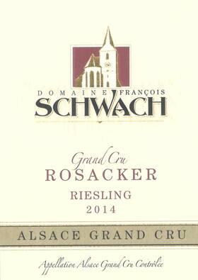 Domaine François Schwach - riesling grand cru rosacker - Blanc - 2016
