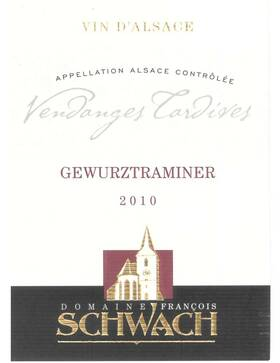 Domaine François Schwach - gewurztraminer vendanges tardives - Liquoreux - 2010
