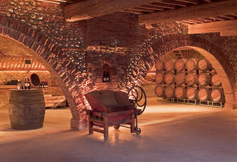 Espace de dégustation du Château Nadal-Hainaut