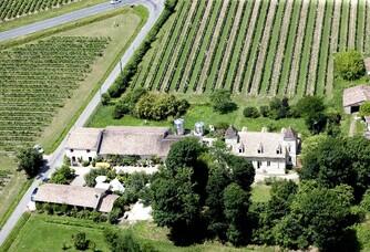 Vue aérienne du Château Cantinot