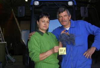 Monsieur et Madame Bruneau du Domaine Damien Bruneau