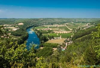 Vue aérienne du Château Eugénie