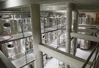 Cuvier des vins blancs et rosés du Château Romanin