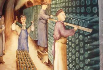 fresque de nos caves : scène de tirage