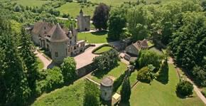 Château de Couches - Vue aérienne de la propriété