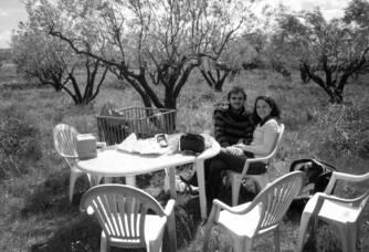 Moment en famille à la Calade de Saint Geniès