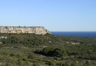 Une vue de la côte du Château d'Angles La Clape
